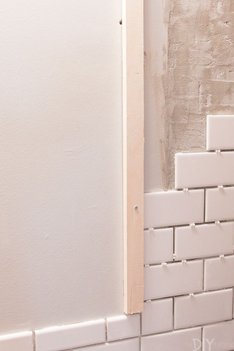 10 Tips For Installing Subway Tile In Your Bathroom The Diy Playbook Bathroom Renovation Diy Bathrooms Remodel
