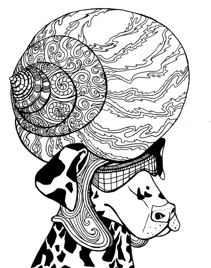 But Why Male Models Coloriage Mandala Chien Pinterest