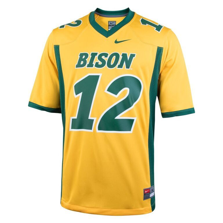 Football Jersey Gold 12 By Nike North Dakota State University Jersey Bookstore