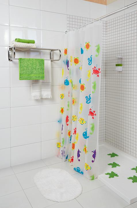 Las cortinas de baño con estampaciones animales son perfectas cuando ...