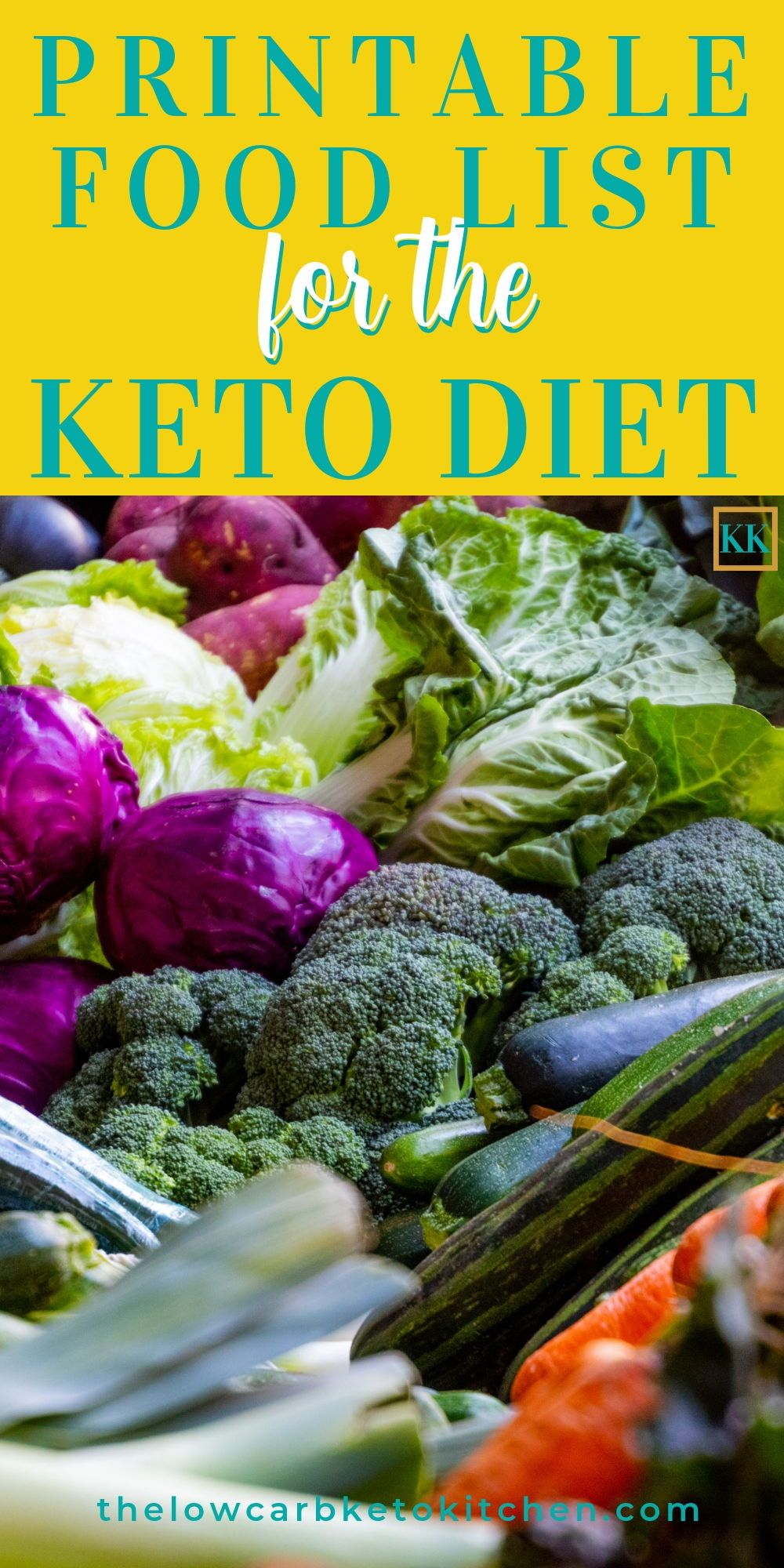 The Ultimate Keto Food List with Printable Keto diet