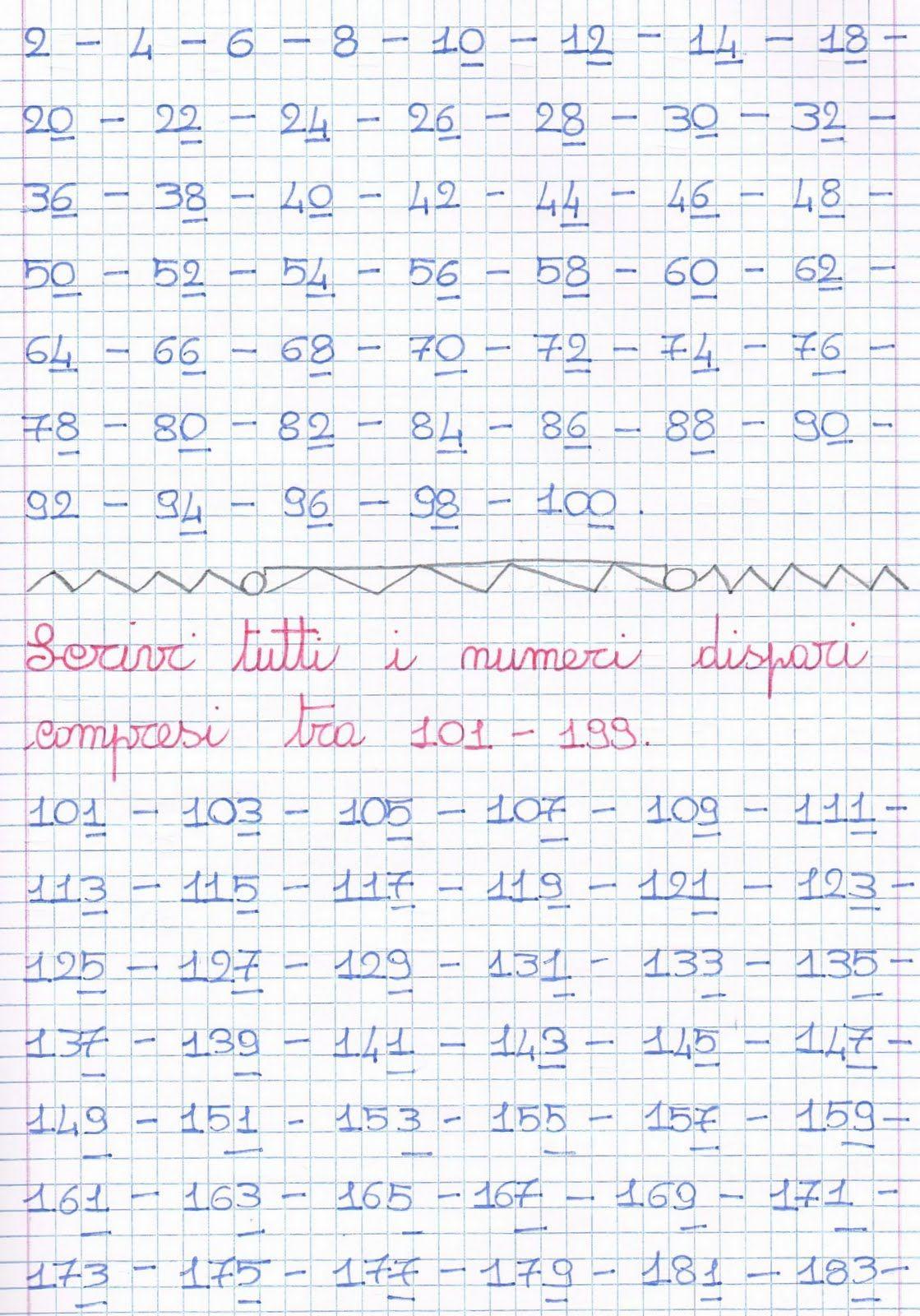 official photos 194c2 29eec Numeri pari e numeri dispari Visualizza e stampa con Google ...