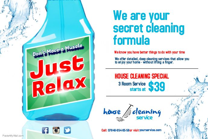 Create Amazing Flyers For Your Cleaning Business By Customizing Our
