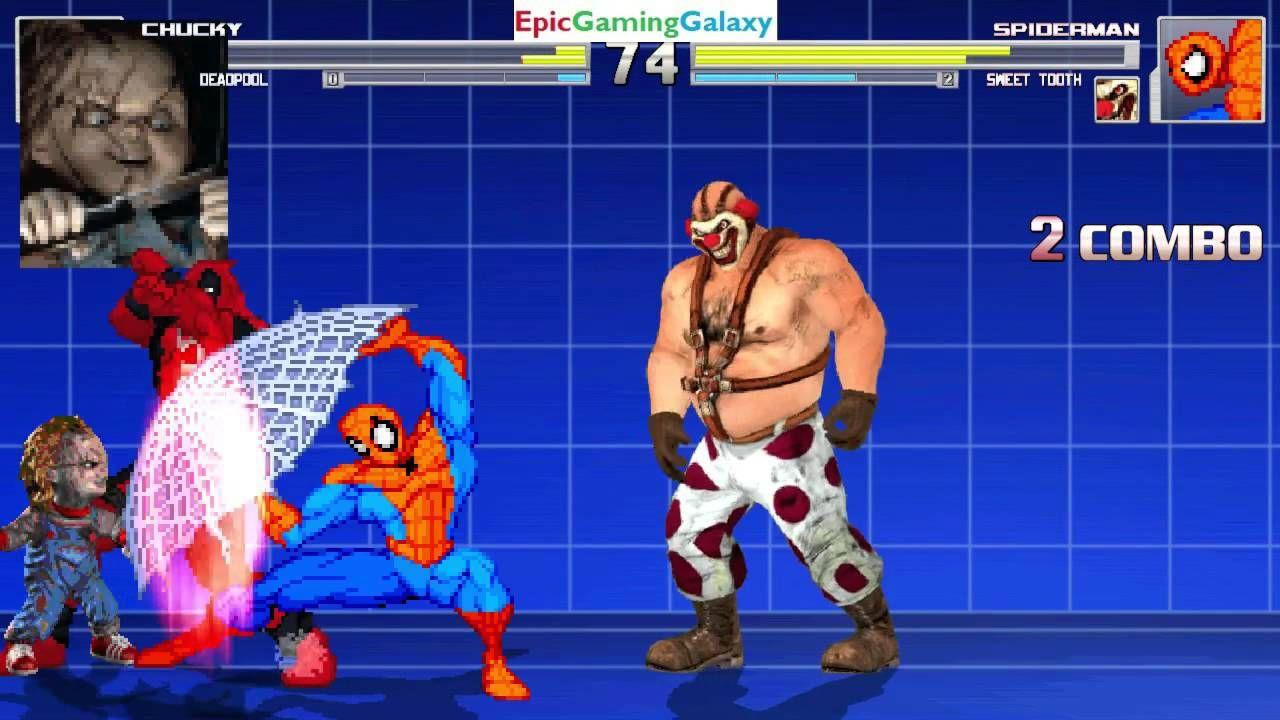 Spider Man Sweet Tooth The Killer Clown VS Chucky Doll Deadpool
