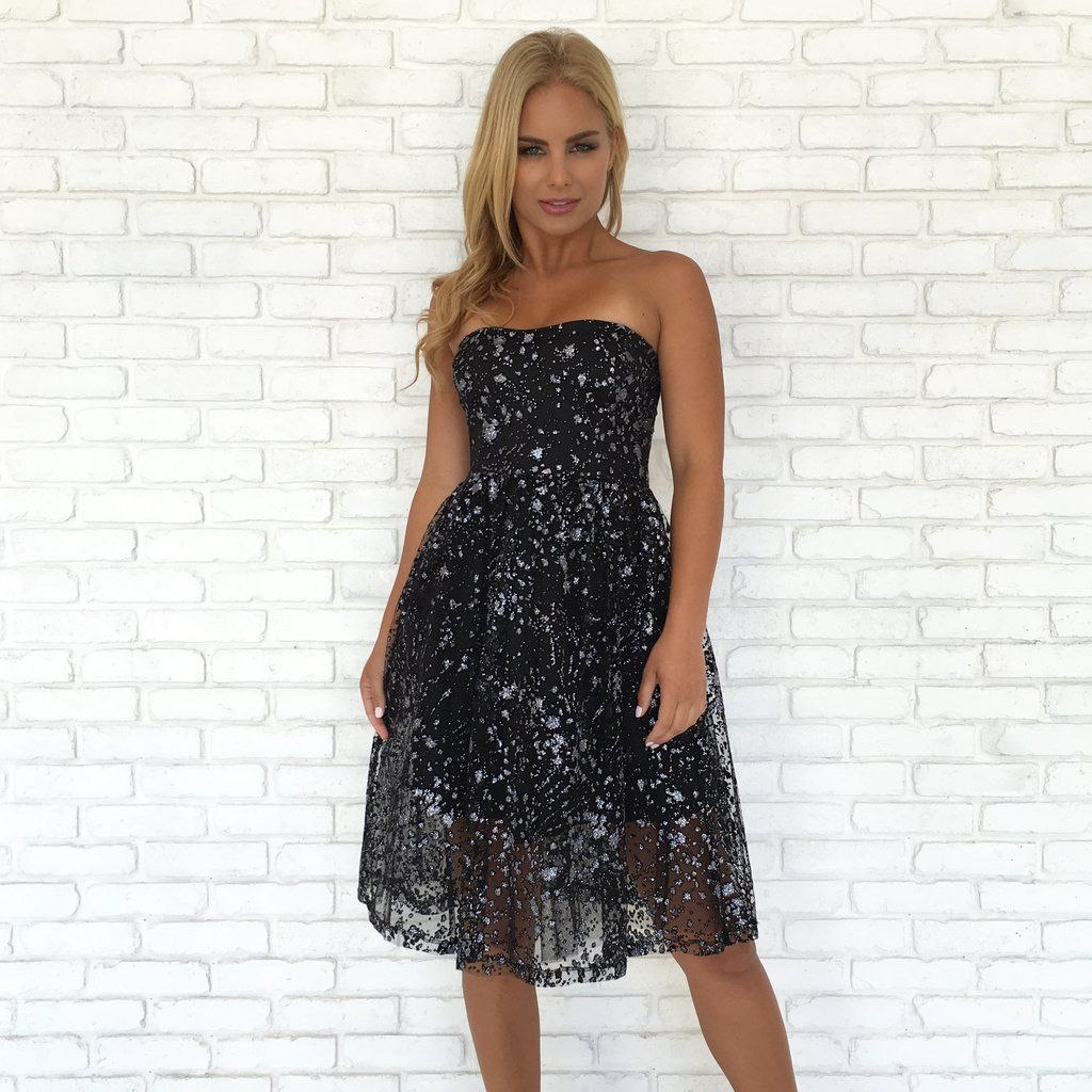 Sparkle on babydoll midi dress dresses pinterest midi dresses