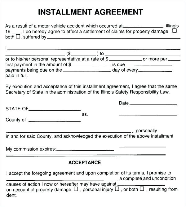 Simple Payment Agreement Form Google Search Accident