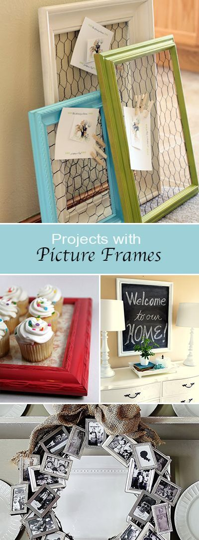 Ideas : Projects with Picture Frames • Tutorials and ideas for turning ordinary picture frames into DIY home decor!