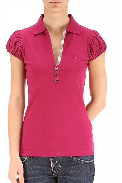 cbff70d78 Burberry womens polo. Like the feminine detailing.