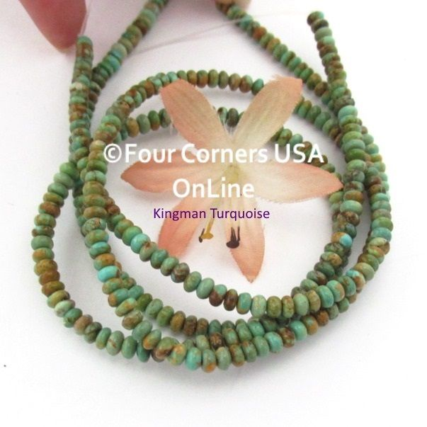 beads strands turquoise copper online green kingman usa rondelle inch tq pin
