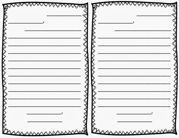Free letter writing outline paper Great for a friendly letter - new letter writing character reference