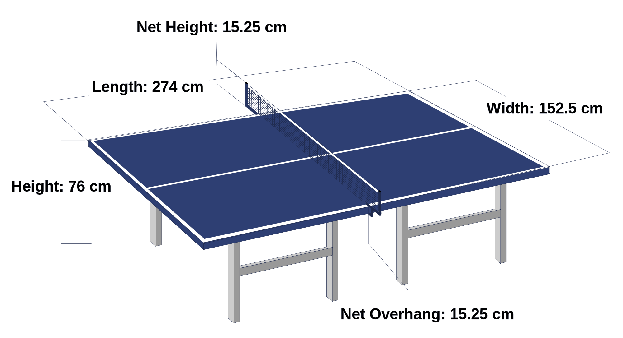 Table Tennis Table Size And Specifications Google Search