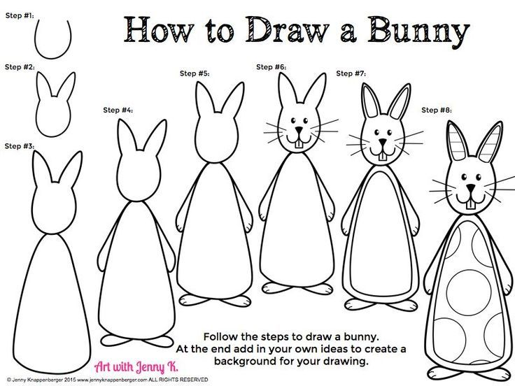 FREE For Easter How To Draw A Bunny Rabbit Step By Step