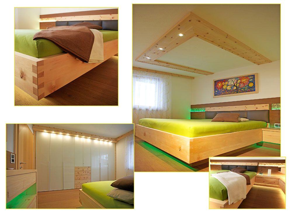 Zirbenschlafzimmer, Schlafzimmerschrank nach Maß