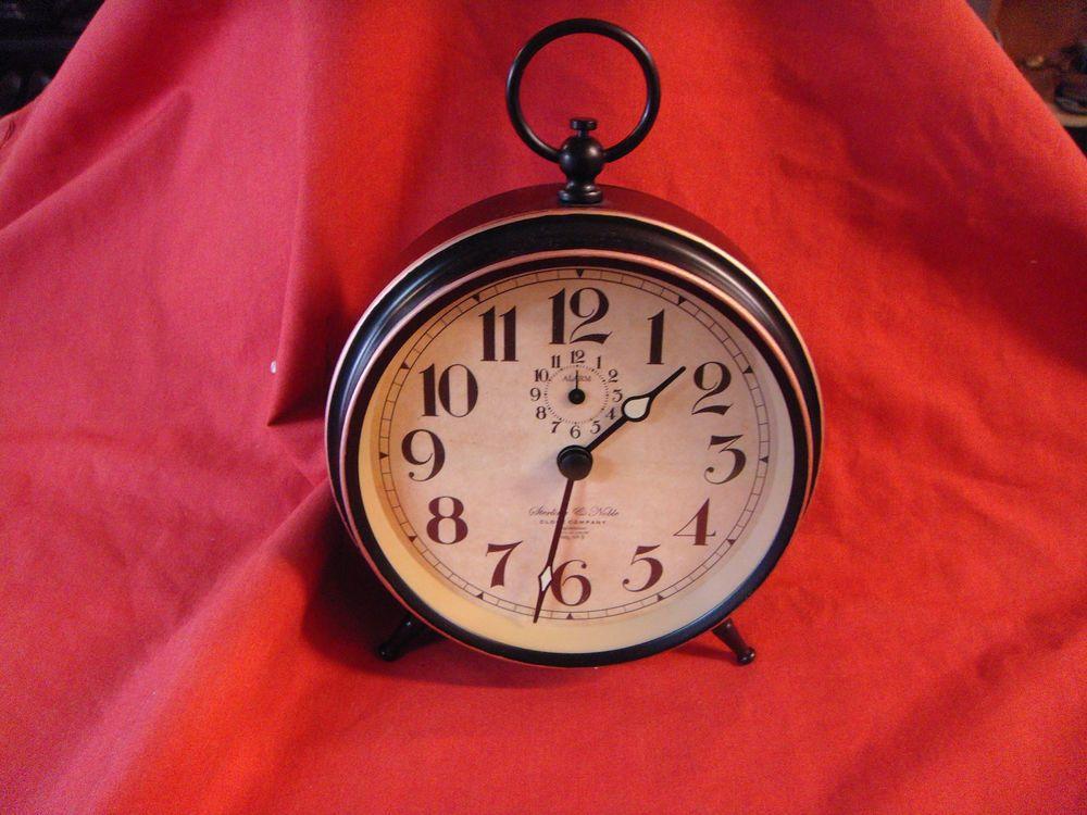 Sterling Noble Clock Company Retro Look Table Desk Dresser Alarm