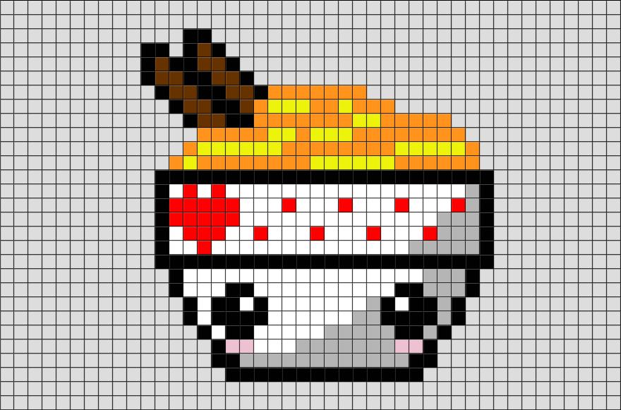 Noodles Pixel Art Pixel Art Nourriture Jeux Pixel Art Et