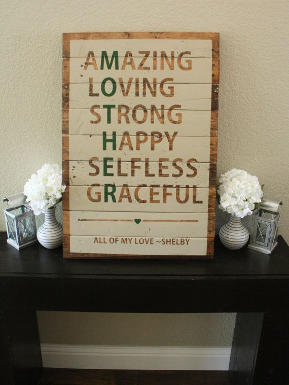 Reclaimed wood mother sign by wtgdesigns on etsy perfect for Diy gift projects