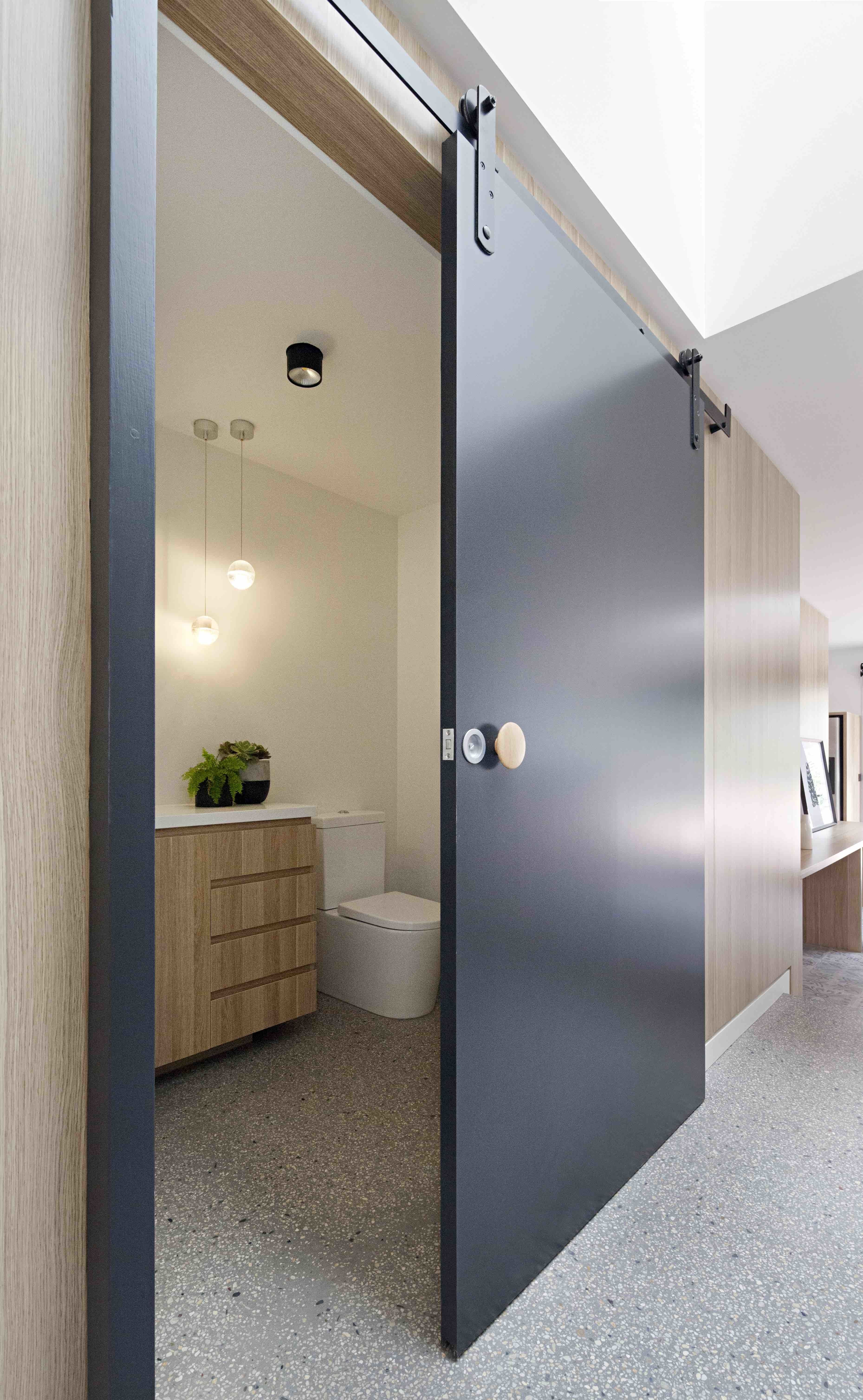 Photo 13 Of 17 In A Remodel Turns A Dark And Choppy House In Barn Doors Sliding Sliding Doors Interior Modern Barn Door
