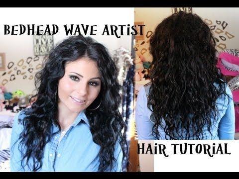 Hair Tutorial Bedhead Wave Artist Hair Tutorial Waves Hair Tutorial Hair