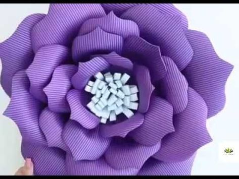 2 Giant Big Paper Flower Paper Flower Tutorial How To Make Giant