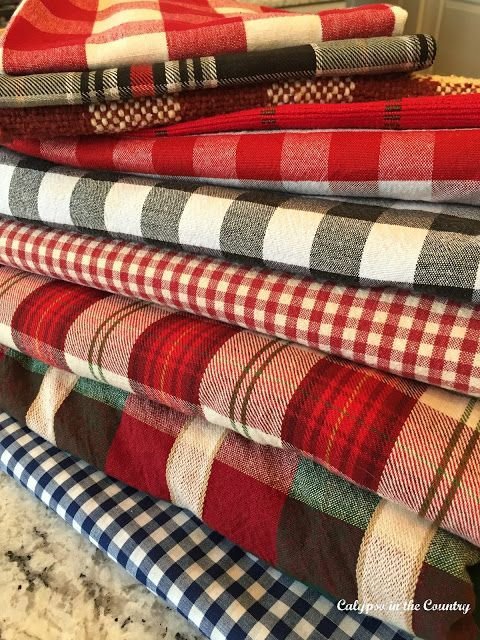 You can never have enough plaid when it comes to decorating for fall or winter! As you can see, I have quite a collection of plaids and checks...  But like I said, you can never have enough!Recently,