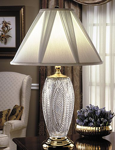 Waterford reflections table lamp white rapture shade french draped waterford reflections table lamp white rapture shade french draped panels 7x20x13 inch polished brass finish mozeypictures Images