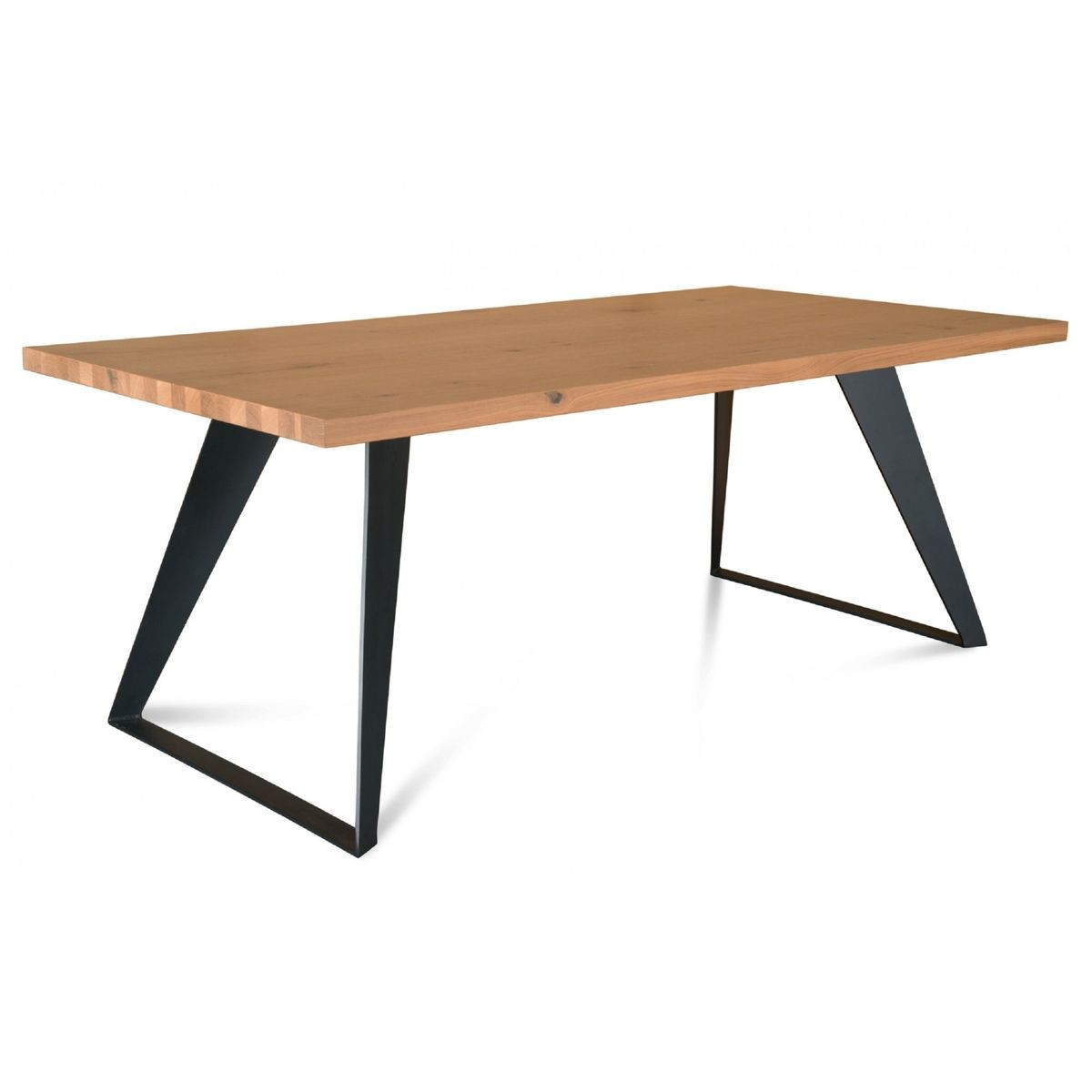 Table A Manger Moderne Filigrame En Chene Pieds Metal Table A Manger Moderne Table A Manger Table A Manger Metal