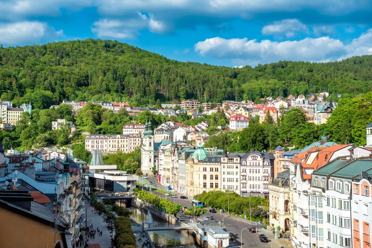 Panoramic view of Karlovy Vary in 2020 Panoramic views