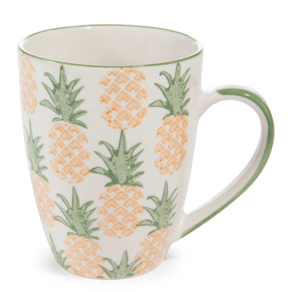 mug en fa ence ananas maisons du monde pineapple. Black Bedroom Furniture Sets. Home Design Ideas