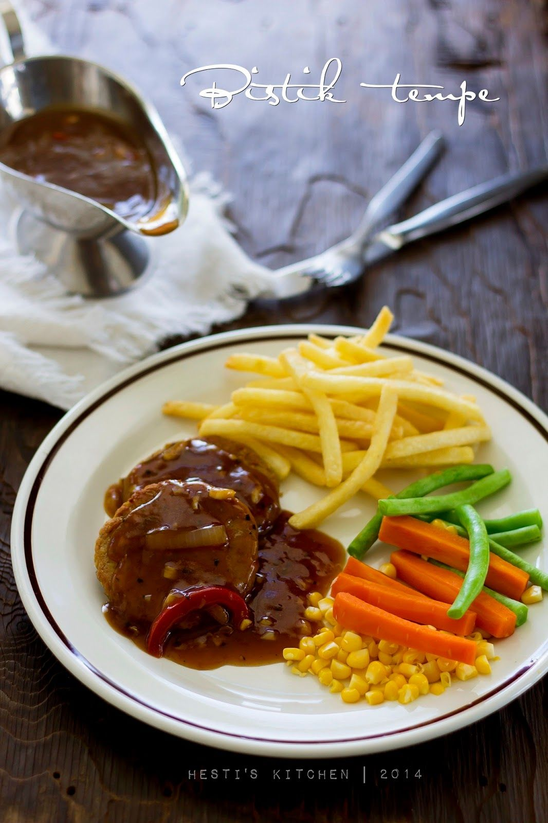 Hesti S Kitchen Yummy For Your Tummy Bistik Tempe Saus Lada Hitam Resep Steak Resep Makanan Sehat Makanan Diet