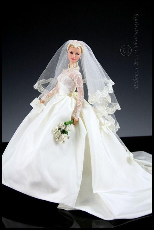 Grace Kelly \'Wedding\' Barbie | Oh You Beautiful Doll | Pinterest ...
