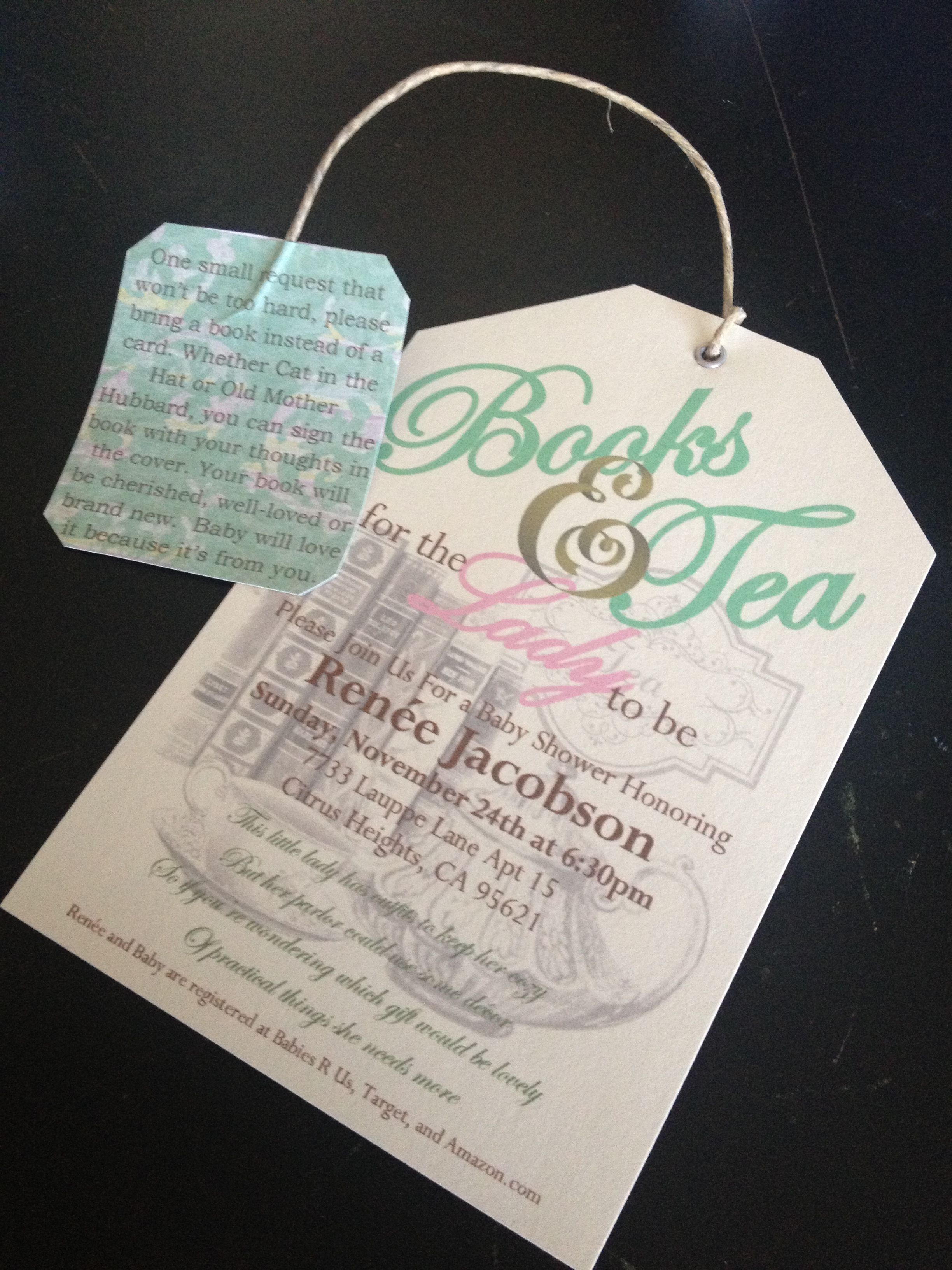 Baby Shower Tea Party Invitations | Baby Bump! | Pinterest | Baby ...