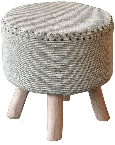 Amazing Uttermost Lucas Cotton And Wood Accent Stool 23966 Leather Cjindustries Chair Design For Home Cjindustriesco