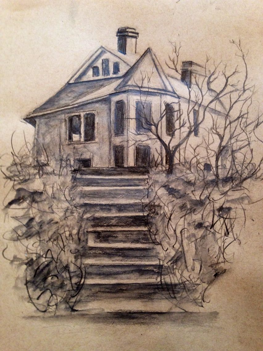This is a photo of Epic Abandoned House Drawing