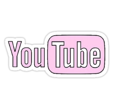 Pink Youtube Stickers By Erinaugusta Redbubble Youtube Logo Youtube Banner Backgrounds Snapchat Logo