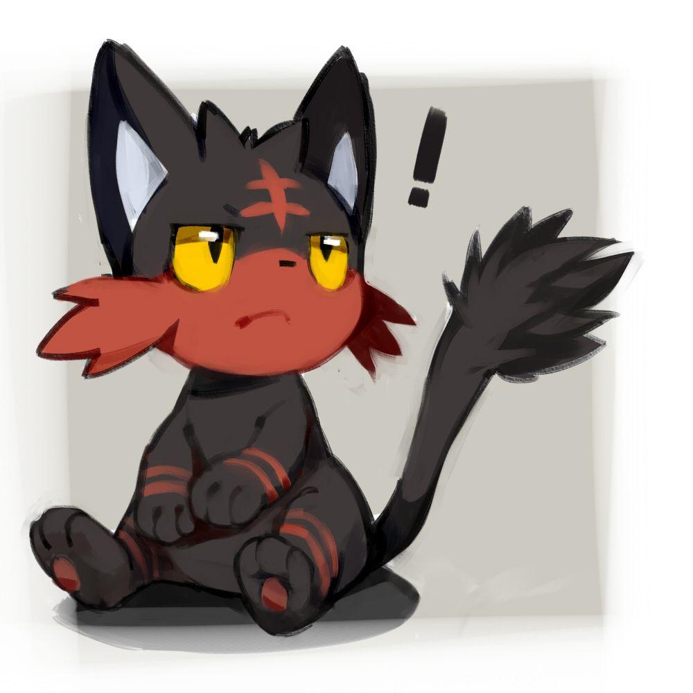 Pixiv Id 9026657 Pokémon Litten Exclamation Point No