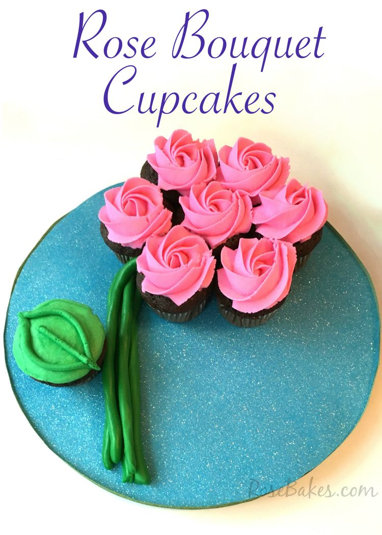 How To Make A Flower Cupcake Cake Rose Bakes Pins Pinterest