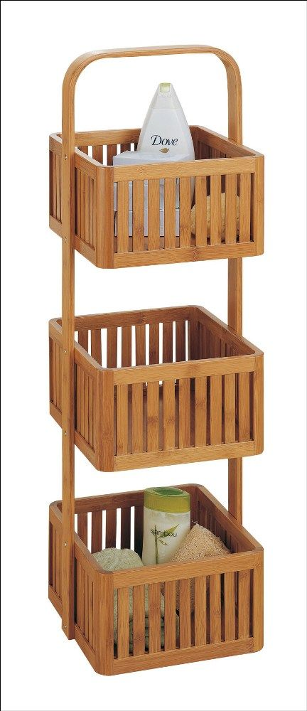 Lohas Bamboo Bathroom Caddy 3 Tier Organize
