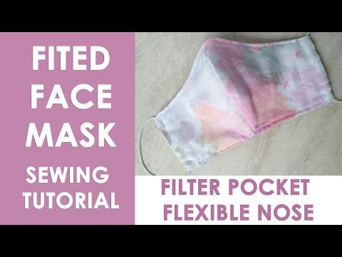 Photo of How to SEW a REUSABLE FACE MASK // DIY FABRIC FACE MASK with Filter Pocket / Tutorial + FREE pattern