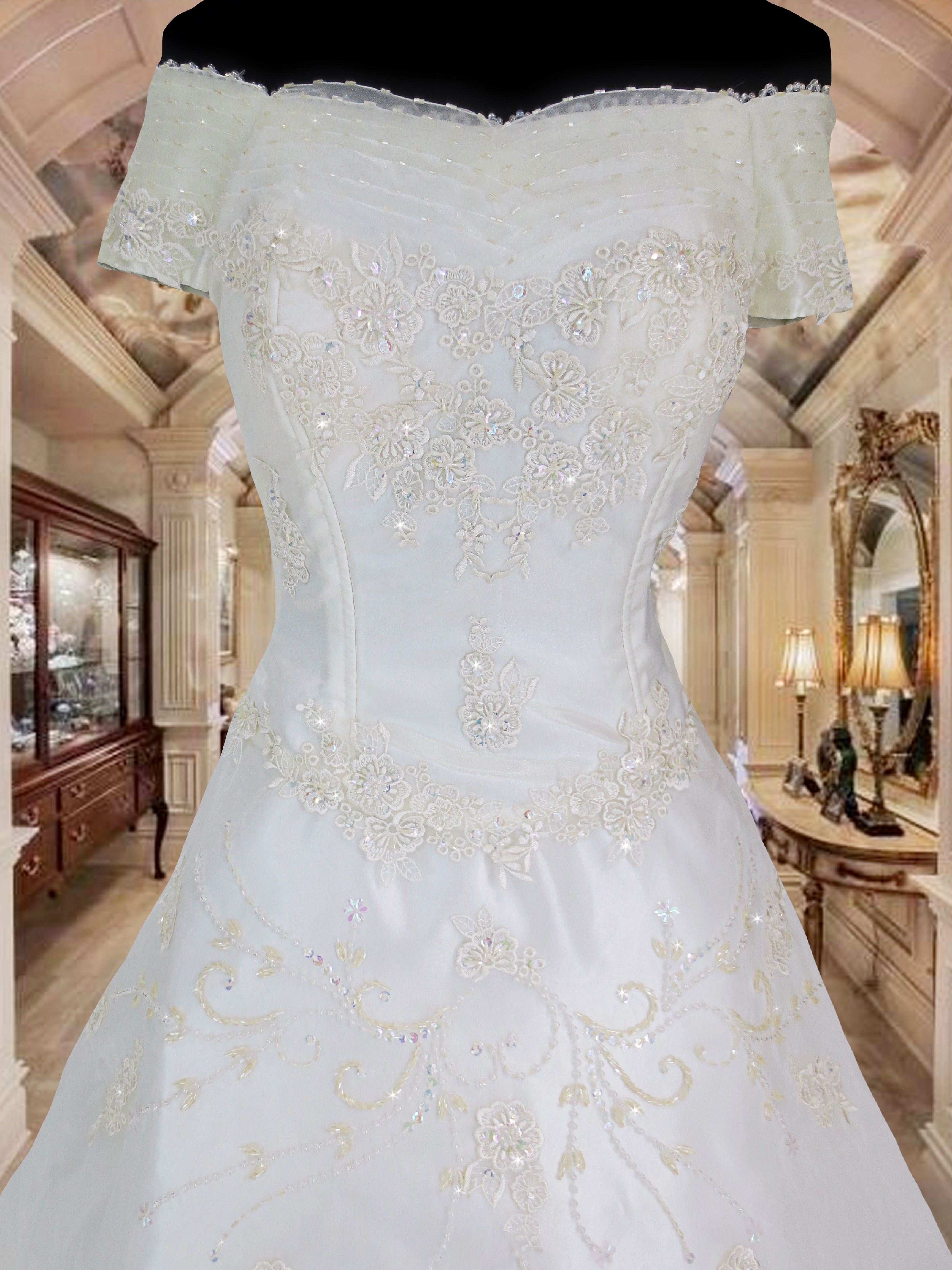 white bridal gown wedding gown for rent Php3,000. www.gownforent.com ...