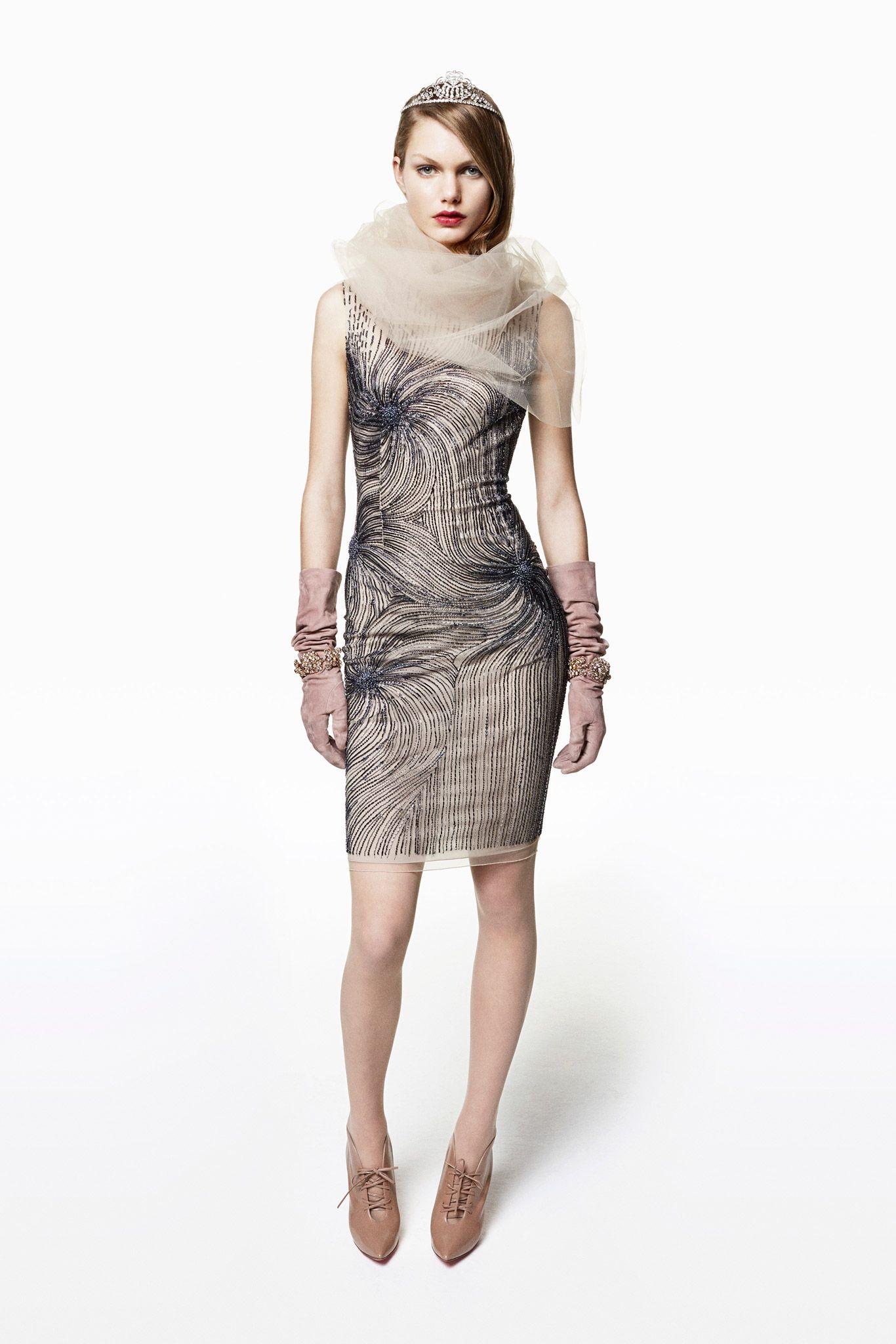 Lea michele blumarine dress lace
