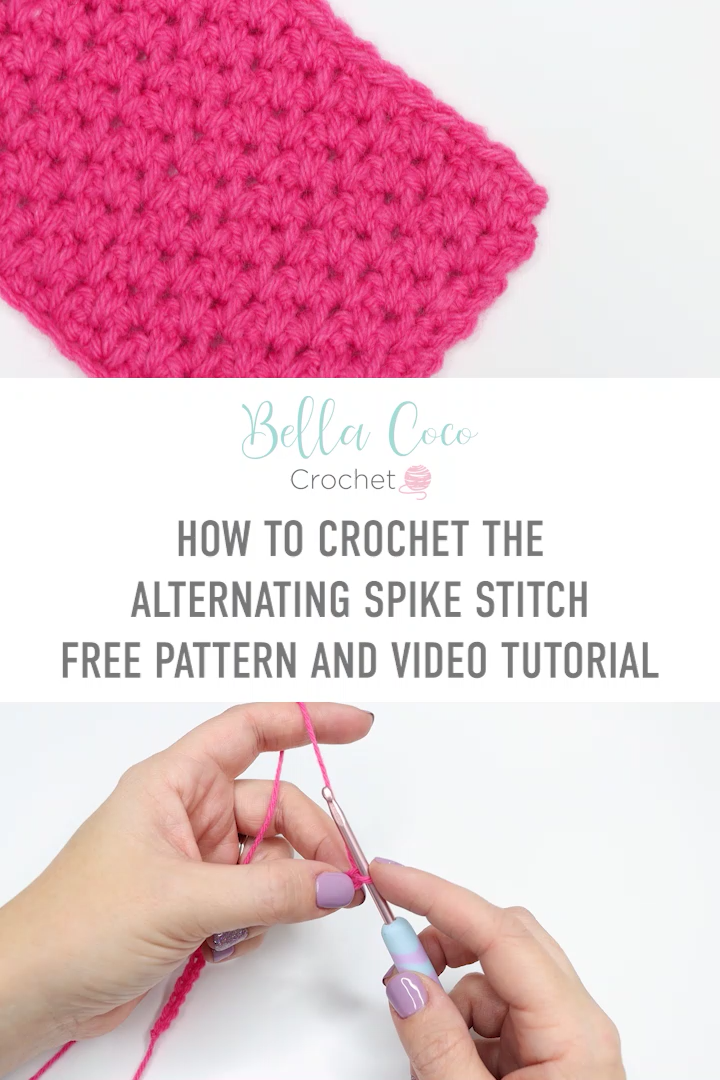 Photo of How To Crochet The Alternating Spike Stitch