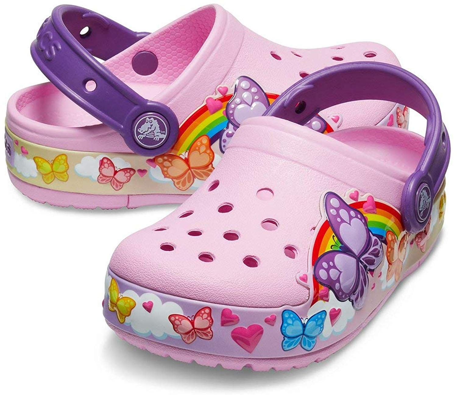 Crocs Kids Boys and Girls Butterfly Band Light Up Clog
