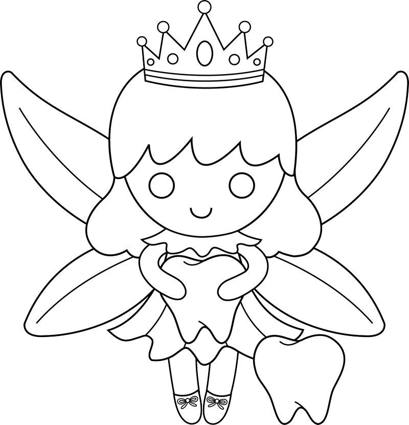 Tooth Fairy Coloring Pages di 2020