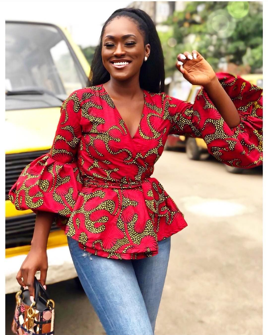 Beautiful Ankara Peplum Top Styles For Beautiful Ladies