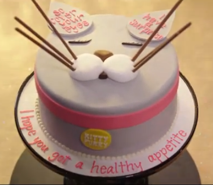 Its the cat cake from Katy Perrys lyric video for her song Happy