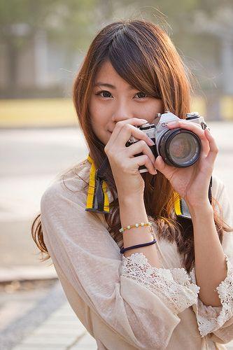 フリー画像素材 人物 女性 アジア 台湾人 カメラ Id 201302010800