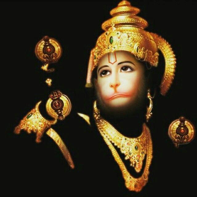 Hanuman bright as gold