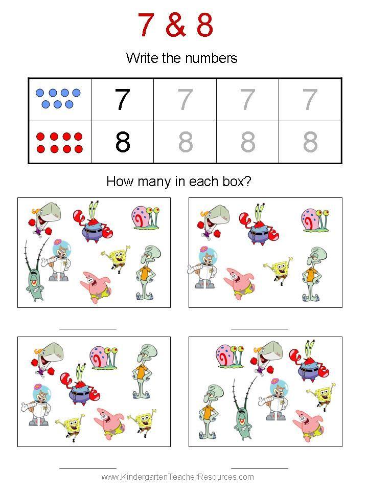 Free Spongebob kindergarten worksheets | Resources for Teaching ...