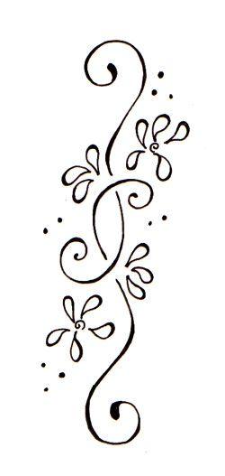 flower side tattoos | Henna, Vorlagen und Tattoo ideen