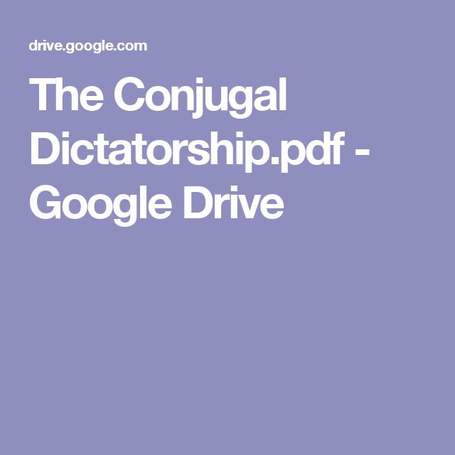 Conjugal Dictatorship Pdf